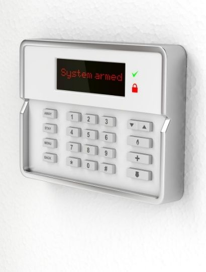 Burglar Alarm Displaying status
