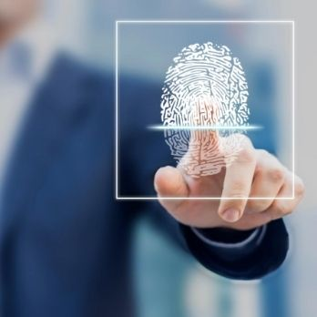 Fingerprint scan provides access with identification